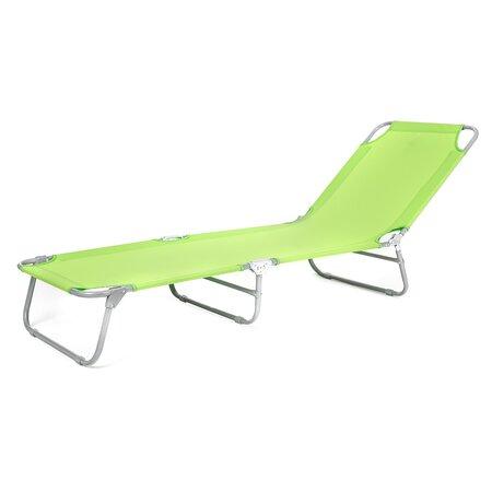 Happy Green Plážové skladacie ležadlo Sunbay zelená