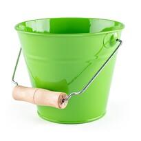 Woody Zahradní kovový kyblík 16 x 13,5 cm, zelená