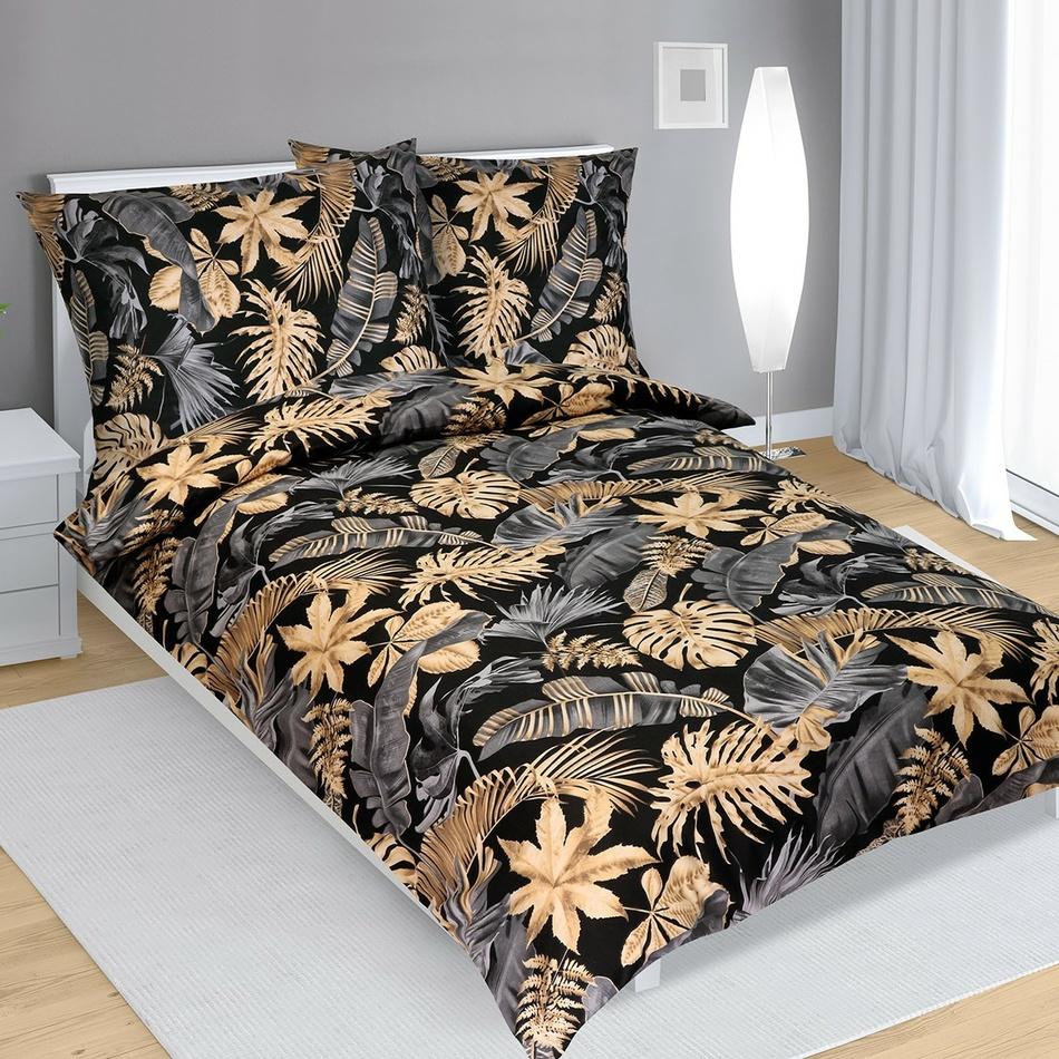Bellatex Bavlnené obliečky Monstera , 140 x 220 cm, 70 x 90 cm