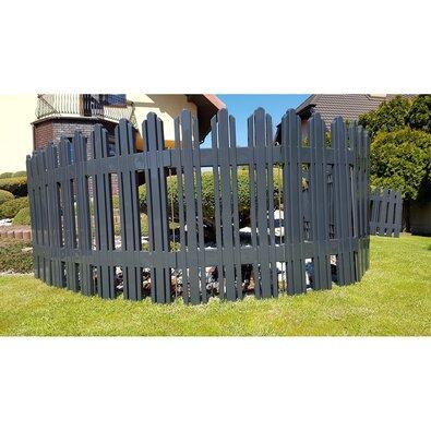 Aldotrade Zahradní plůtek Mega antracit, 4,7 m