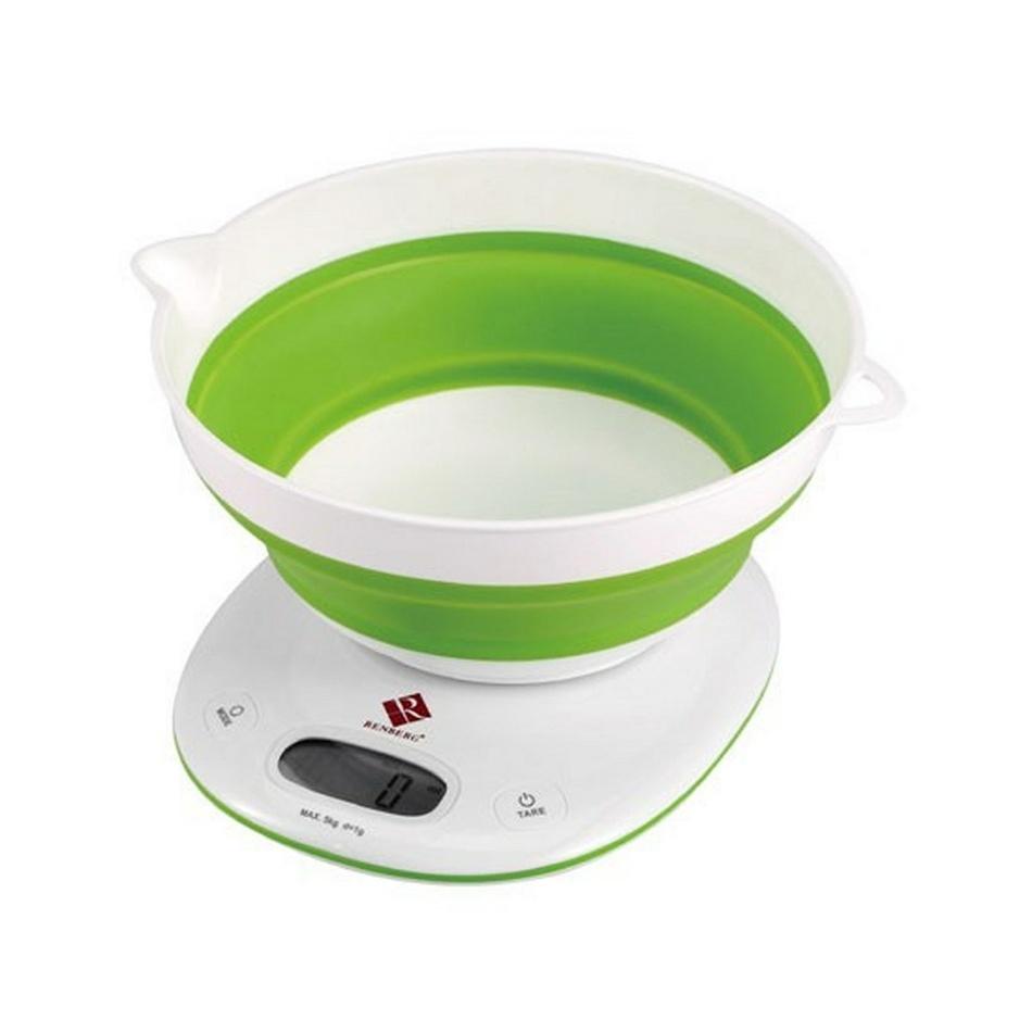 Renberg digitálna kuchynská váha zelená,