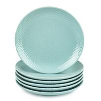 Orion Sada dezertních talířů Relief pr. 21 cm, zelená, 6 ks