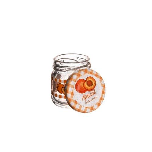 Orion Sada zaváracích pohárov s viečkom Marhuľa 0,04 l, 8 ks