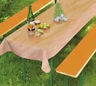 PVC ubrus s podložkami na lavice, oranžová