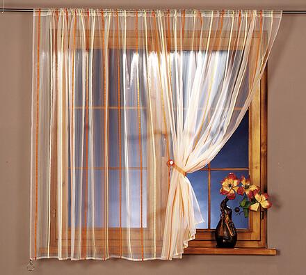 Voálová záclona, oranžová
