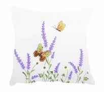 Poszewka na poduszkę Motyle i lawenda, 40 x 40 cm