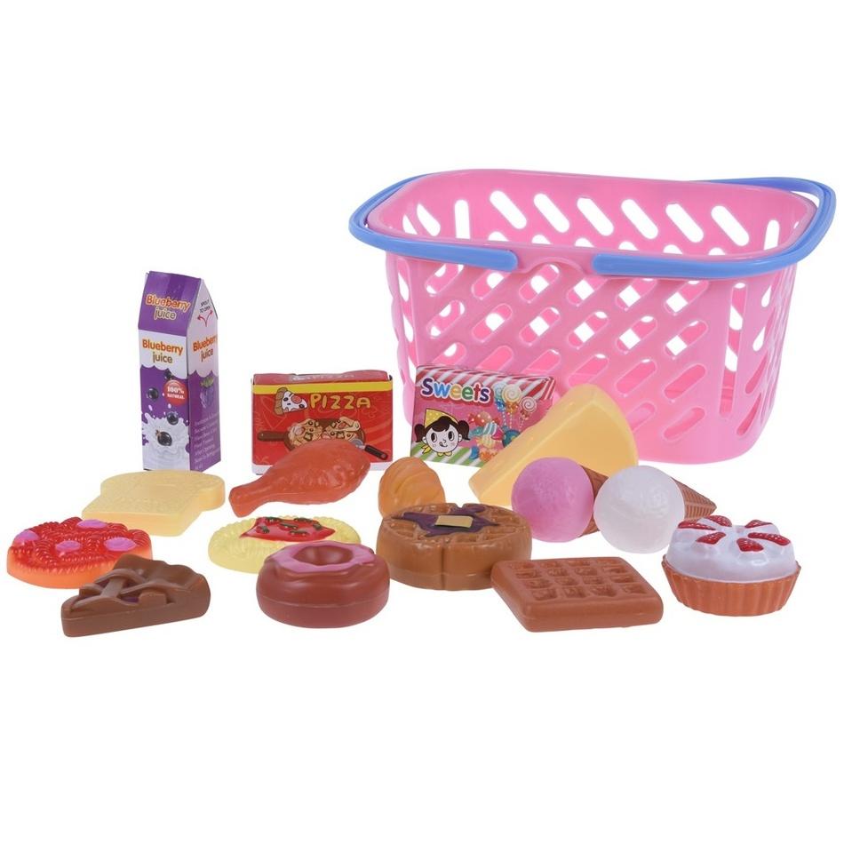 Koopman Dětský hrací set Jdeme nakupovat, růžová