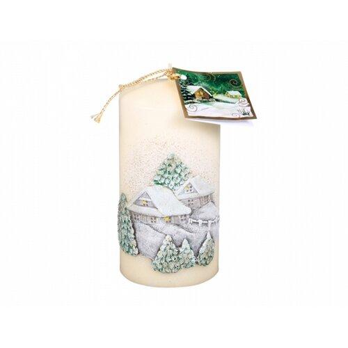 Vánoční svíčka Chaloupka, béžová