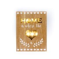 Świecąca dekoracja do powieszenia Home is where, brązowy