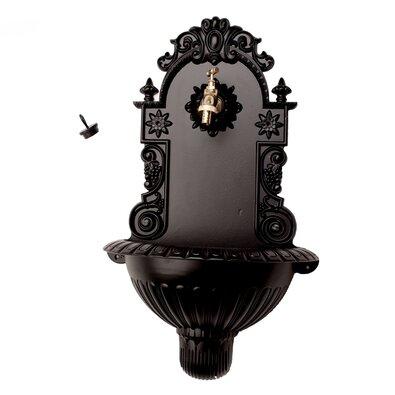 Hliníkové umývadlo čierna mat, 38 x 61 x 19 cm