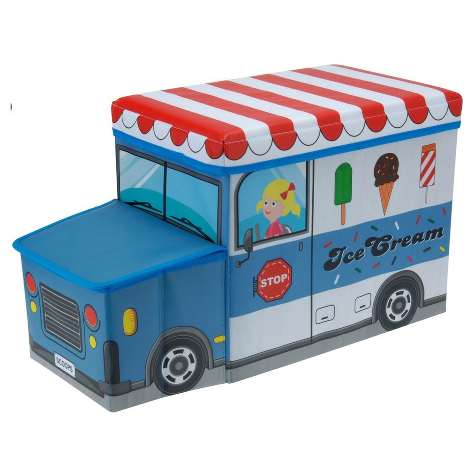 Box na hračky a sedátko Zmrzlinářský vůz