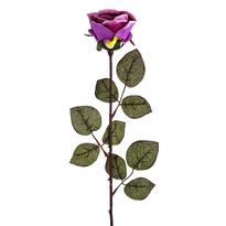 Nagyvirágú rózsa művirág csokor, 72 cm, lila