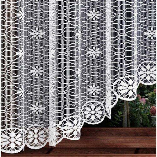 Virág függöny, fehér, 220 x 120 cm