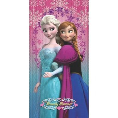 Osuška Ledové království Frozen Family Forever, 75 x 150 cm
