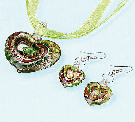 Sada šperků, zelená, zelená