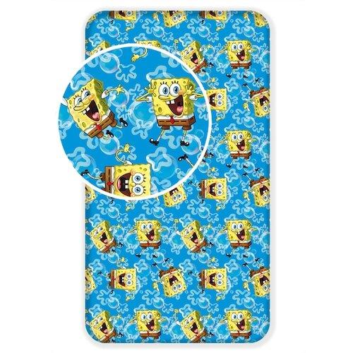 Jerry Fabrics Dětské bavlněné prostěradlo Sponge Bob, 90 x 200 cm