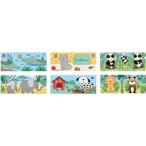 Koopman Klocki Zwierzęta świata, 10 elementów