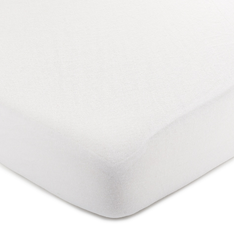4Home jersey prostěradlo bílá, 140 x 200 cm