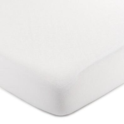 4Home jersey prestieradlo biela, 90 x 200 cm