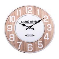 Nástenné hodiny Grand Hotel natur, 34 cm