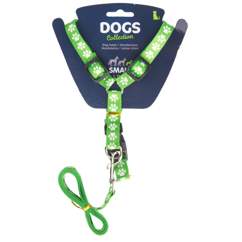 Vodítko pro psa s popruhy, zelená