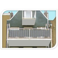 Osłona balkonowa jasnoszary, 76 x 445 cm