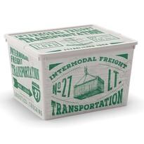 KIS Dekoračný úložný box C-Box Wood Cube, 27 l