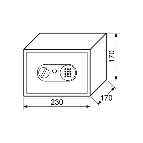 Oceľový sejf s elektronickým zámkom, hnedá