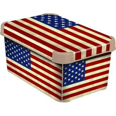 Curver AMERICAN FLAG úložný box dekorativní malý