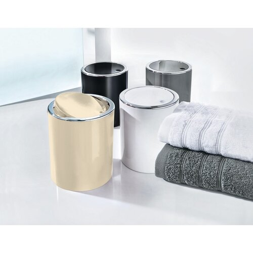Coș cosmetic de gunoi Kleine Wolke Clap Mini1,5 l, alb
