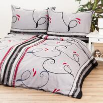 Saténové obliečky Delissia gray, 140 x 200 cm, 70 x 90 cm