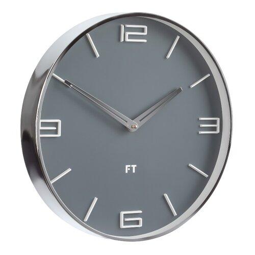 Ceas de perete Future Time FT3010GY Flat Grey  de design diam. 30 cm