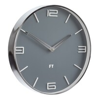 Ceas de perete Future Time FT3010GY Flat Grey,  de design, diam. 30 cm
