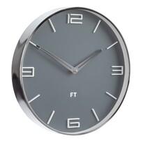 Future Time FT3010GY Flat Grey Designerski zegar ścienny, śr. 30 cm