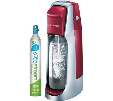 SodaStream JET RED/SILVER domácí výrobník sody, červená