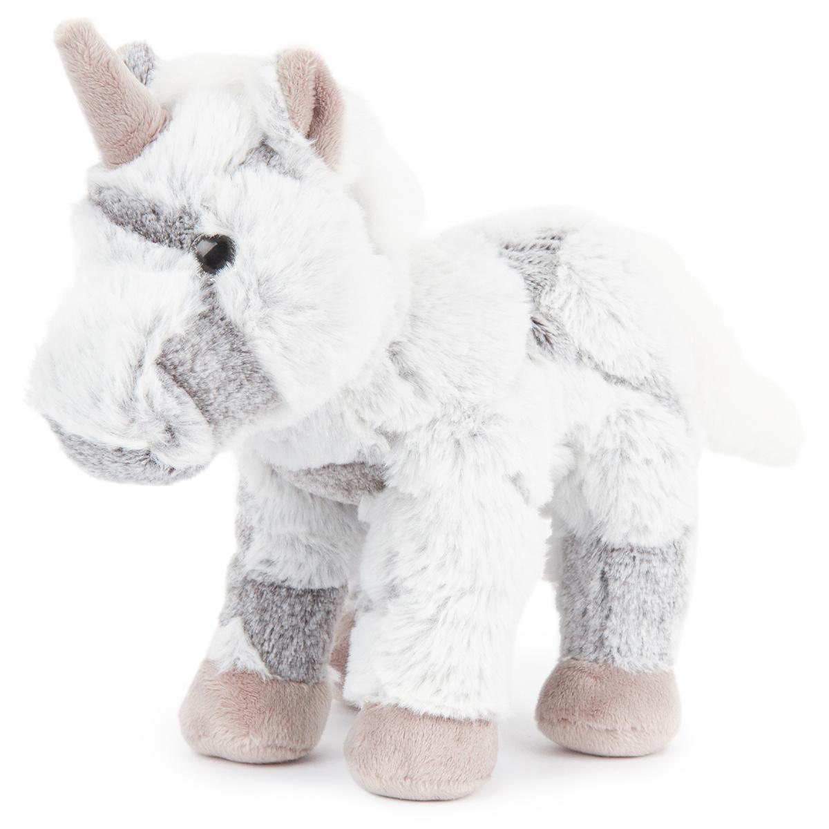 Unicorn din pluș, gri, 23 cm imagine 2021 e4home.ro