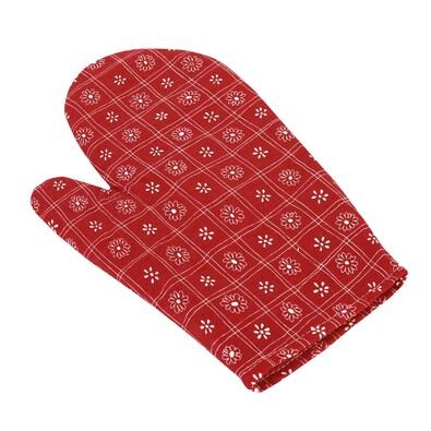 Chňapka Čtverce červená, 28 x 18 cm
