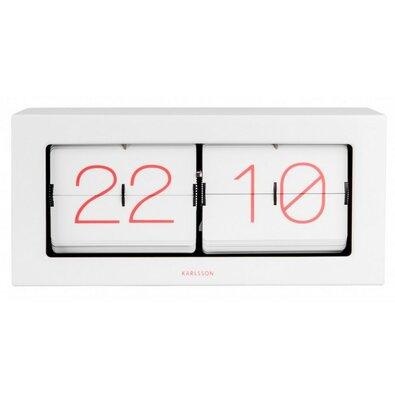 Ceas de design, de perete - de masă Karllson  5642WH ceas flip, 36 x 18 x 9 cm