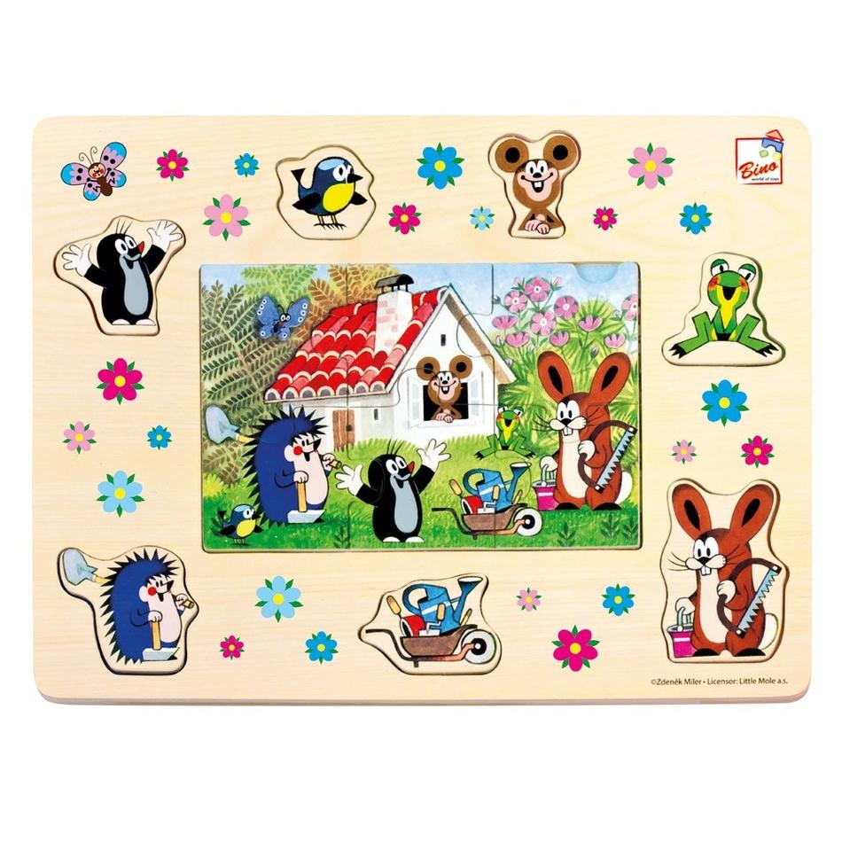 Bino Puzzle Krecik i przyjaciele, 13 elementów