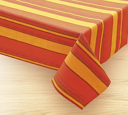 Ubrus Pruhy, oranžová, 120 x 140 cm