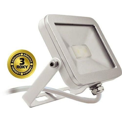 LED světlo Solight venkovní reflektor 10W, bílo-stříbrný, A+, IP65, 6000K, 650lm, ultra te