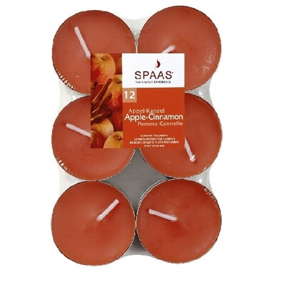 Spaas Apple/Cinnamon čajové svíčky 12 ks