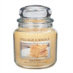 Village Candle Vonná svíčka ve skle, Javorový sirup - Maple Butter, 397 g, 397 g