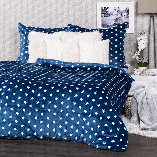 4Home obliečky mikroflanel Stars modrá, 160 x 200 cm, 2 ks 70 x 80 cm