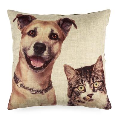 Povlak na polštářek Pejsek a Kočička, 45 x 45 cm