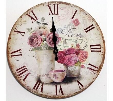 Nástěnné hodiny růže
