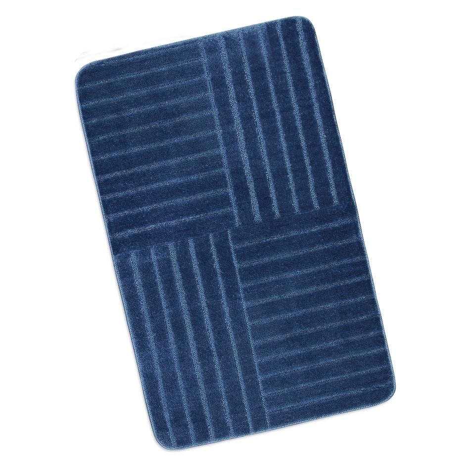 Bellatex Kúpeľňová predložka Standard Modré pruhy, 60 x 100 cm