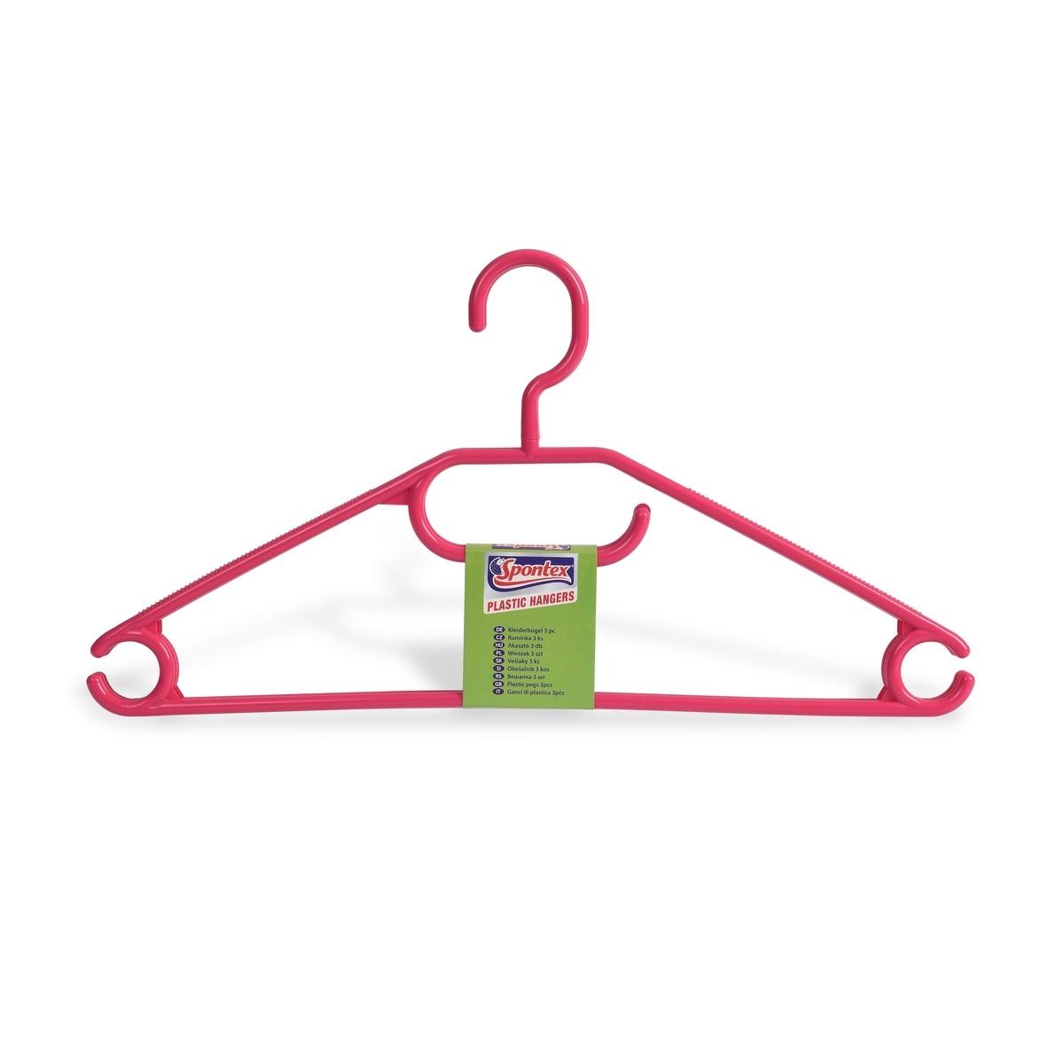 Spontex Ramínko barevné plastové s otočným háčkem, 3 ks