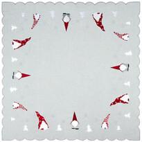 Törpék karácsonyi abrosz, 85 x 85 cm