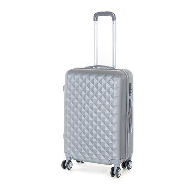 Pretty UP Cestovní skořepinový kufr ABS21 M, šedá